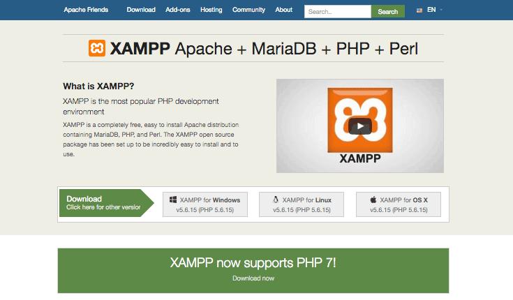 Εγκατάσταση του XAMPP