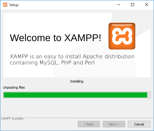 Ολοκλήρωση εγκατάστασης του XAMPP