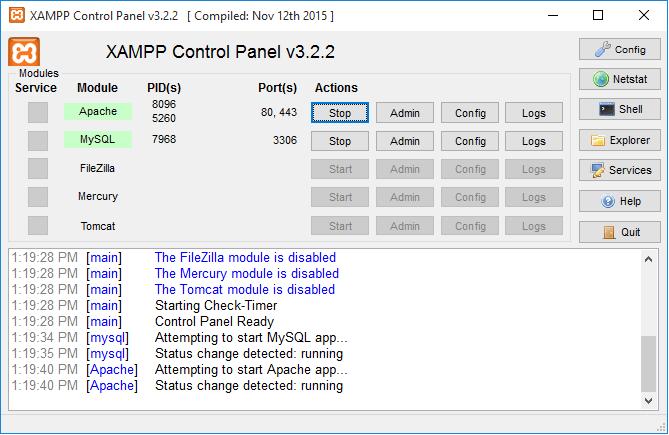 Τα πρώτα βήματα με το XAMPP