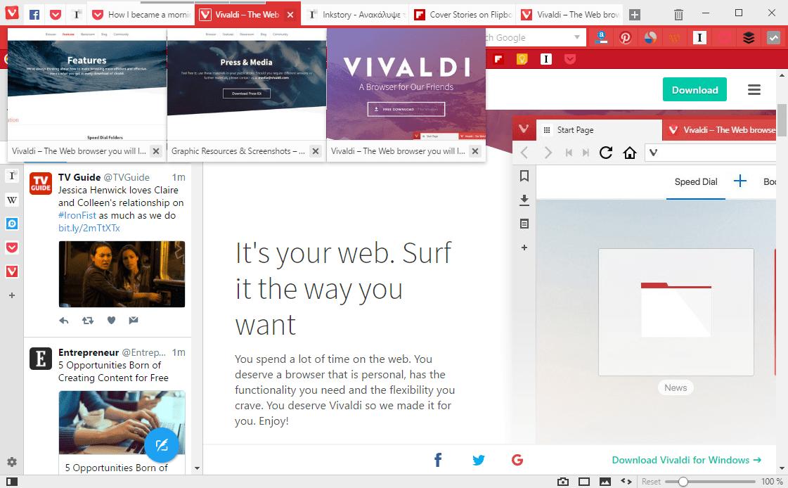 Vivaldi Tab Stack