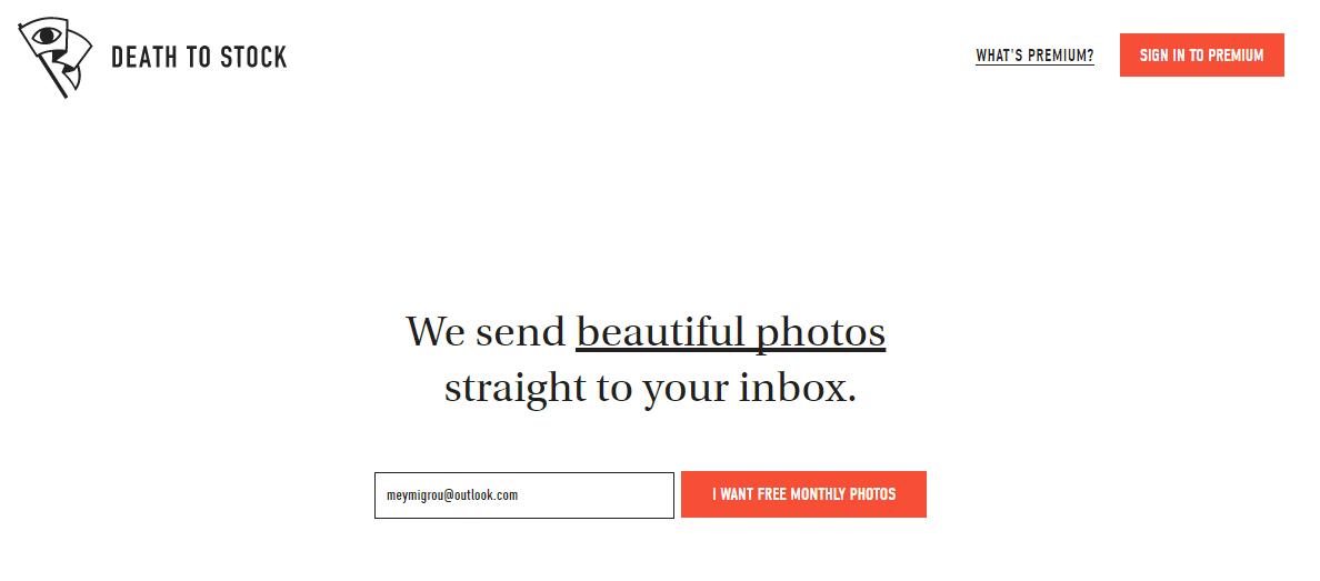 Death to Stock Photos