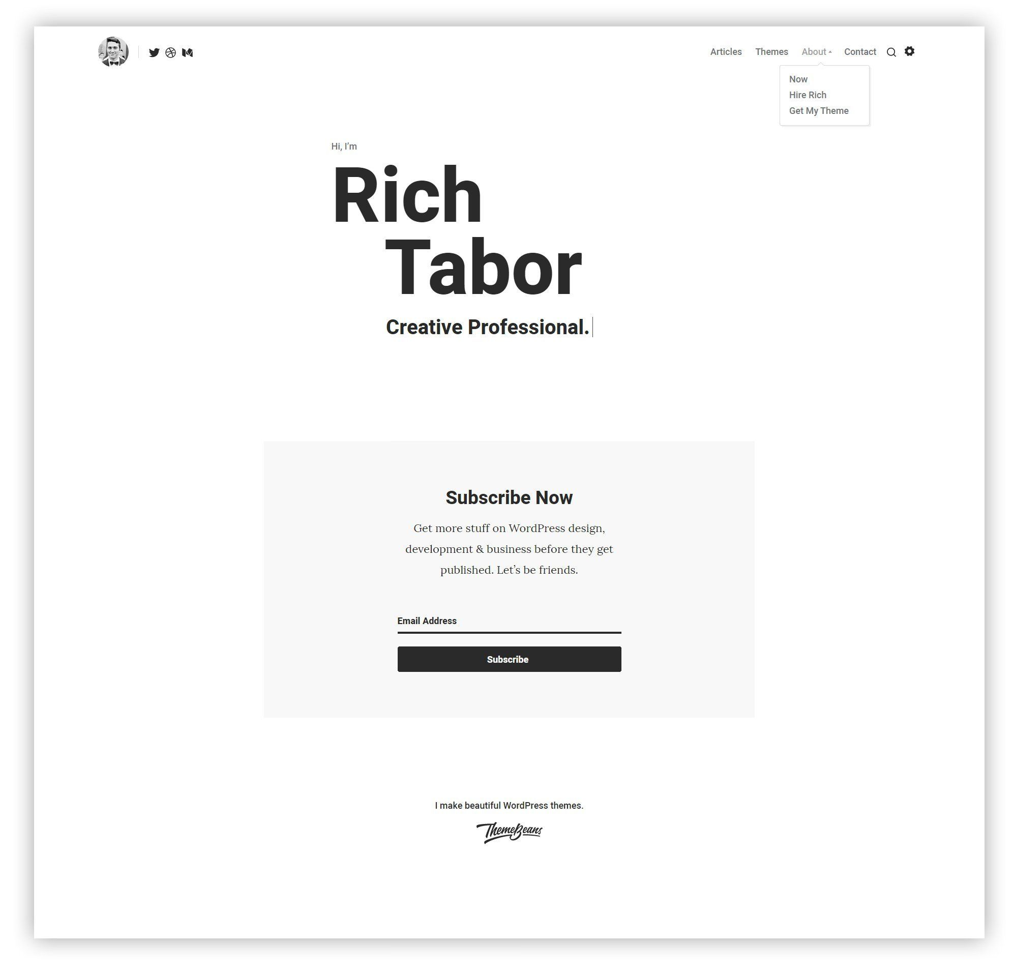 Tabor WordPress Theme