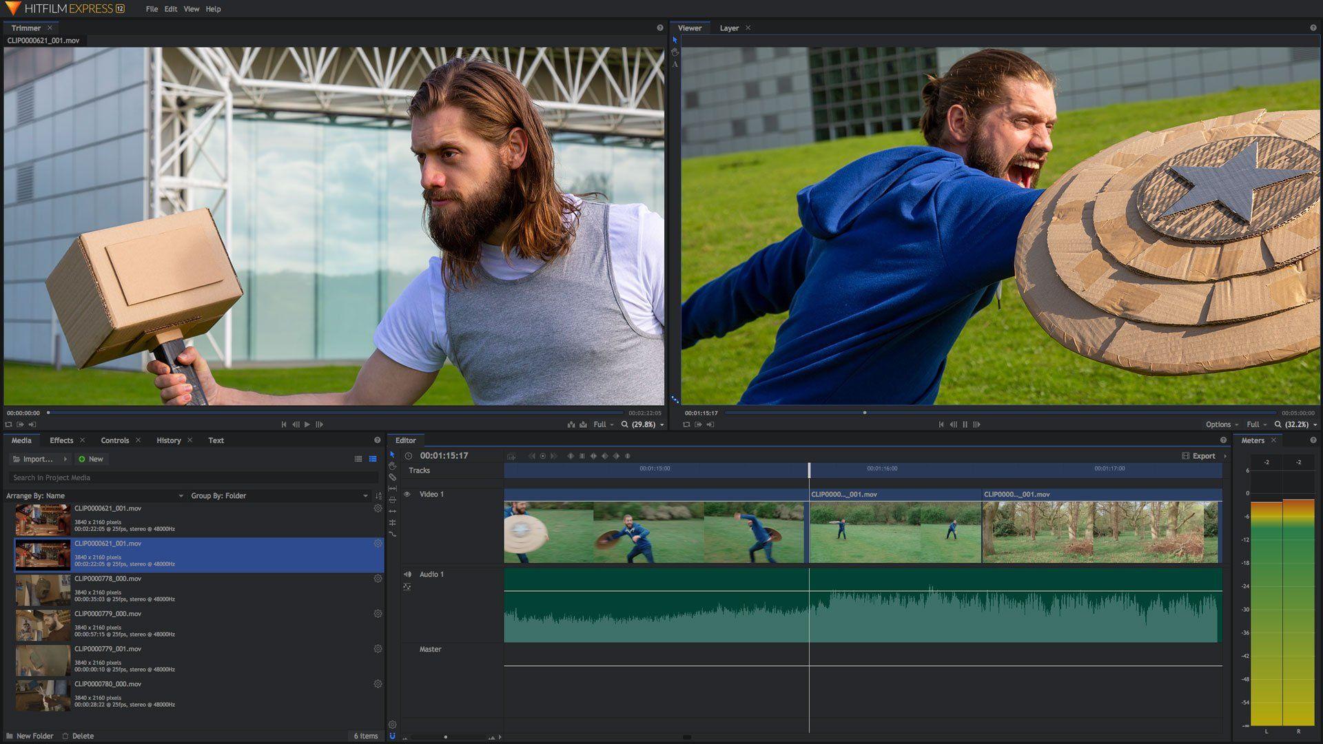 Επεξεργασία βίντεο για το YouTube: HitFilm Express